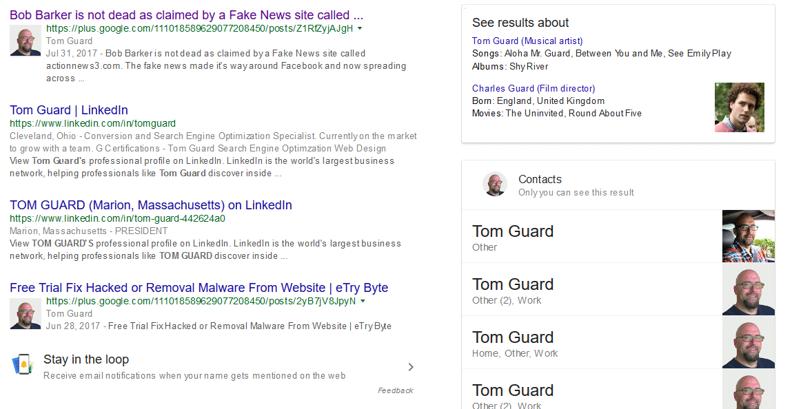 personalized local search results