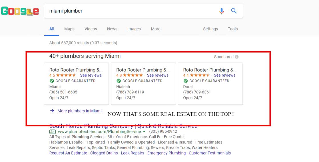 Google Serviced Based Ads